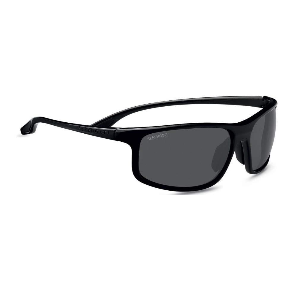 Serengeti Levanzo Sunglasses, Shiny Black by Serengeti