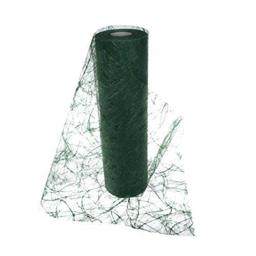 Sizoweb Table Runner DarkGreen: Beautiful, Reusable, Easy to use and Customizable in Length (Cut & go) - Perfect for Decorating Seasonal, Wedding, Dinner and Party Tables (Covers 10 8ft Tables)