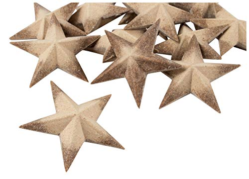 3D Wood Star - 12-Pack Unfinished Wooden Star, Star Pieces, Craft Stars, DIY Star, for Ornament, Kids Art, Christmas Tree, Holiday, July 4th, Baby Shower Party, Home Decoration, 3 x 3 x 1 Inches