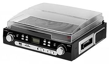 Technaxx 4350 - Tocadiscos (MMC, SD), negro: Amazon.es ...
