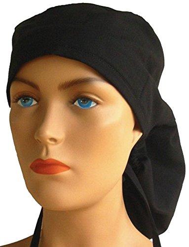 Big Hair Women's Medical Scrub Caps - Black