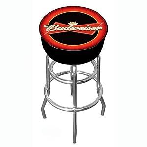 Budweiser Padded Swivel Bar Stool