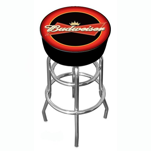 Rung Swivel Fabric Bar Stool - Budweiser Padded Swivel Bar Stool