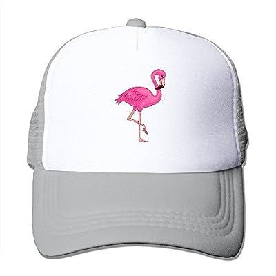 Waldeal Pink Flamingo Trucker Hat Summer Mesh Cap Modern Urban Style Cap Ash