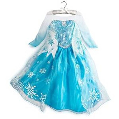Queen Elsa Snow Snowflake Dress Costume Cosplay (4T-5T) by Rush (Princess Jasmine Tutu Costume)