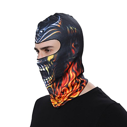 GANWAY Outdoor Sports Balaclavas Headwear Cycling Hat Motorcycle Mask 3D Animal Ski Masks Hood Skull Cap (BB20)