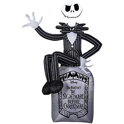 6' Jack Skellington on Grave Stone Disney Nightmare Before Christmas Halloween -