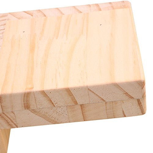 RDEXP L-shaped Semi-closed Lift Wood Bed Desk Riser Lifter Table Furniture Soft Feet Lifts Storage 11.5x11.5x5.3cm by RDEXP (Image #3)