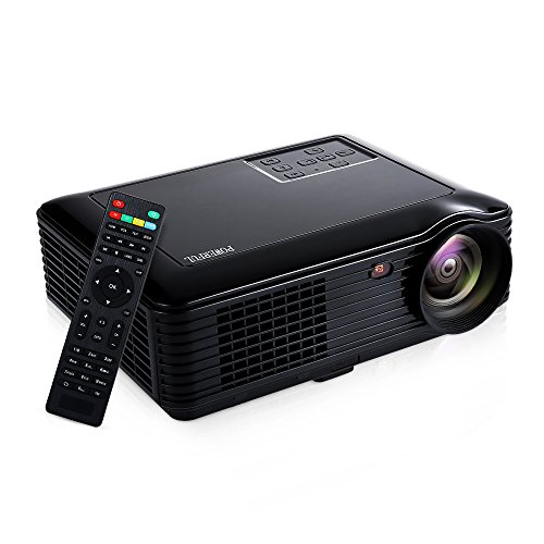 HD 1080P Home Projector, GBTIGER 3500 Lumens 1280x800P Full HD Multimedia LCD Projector Home Theater for Home Cinema/Video Games/Movie Night Up to 150 inch Screen (Black)
