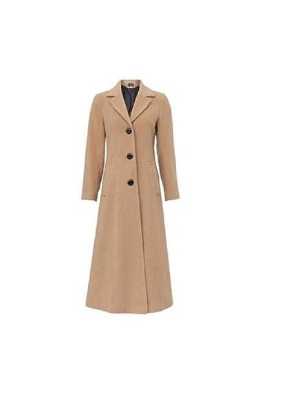 quality design a37b1 ed1b6 nuovo da donna Lana E Cashmere Lungo Taglie Forti Cappotto Elegante