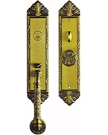 K6829 DAB # Luxurious Entry Handlesets Entrance Front Door Handle Locksets  Victorian Style Knobs Keyed Entry
