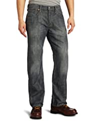 The 569 loose fit straight leg jean from levi's® is one of the loosest fits for men from the levi's® brand, straight leg cut with plenty of room in the seat and thigh, wear low on the hipbone or size down for a slimmer look, straight leg, zip...