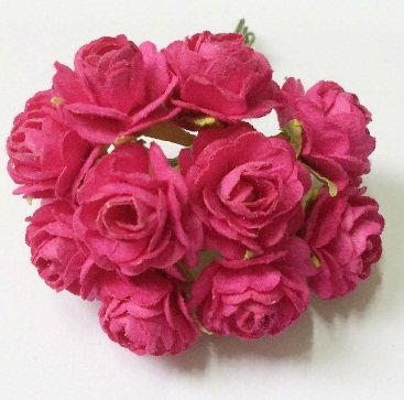Amazon Com Studio One Hot Pink Rose Mulberry Paper Flower 20 Mm