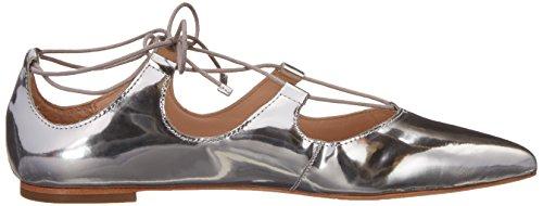Loeffler Randall Women's Ambra-ml Ballet Flat, US Silver