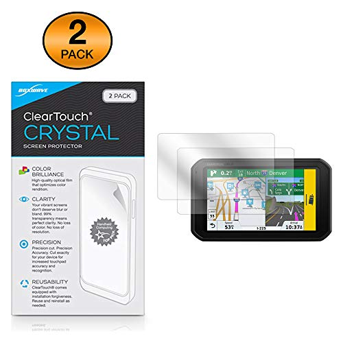 Garmin DezlCam 785 LMT-S Screen Protector, BoxWave [ClearTouch Crystal (2-Pack)] HD Film Skin - Shields from Scratches for Garmin Dezl 780 LMT-S | DezlCam 785 LMT-S