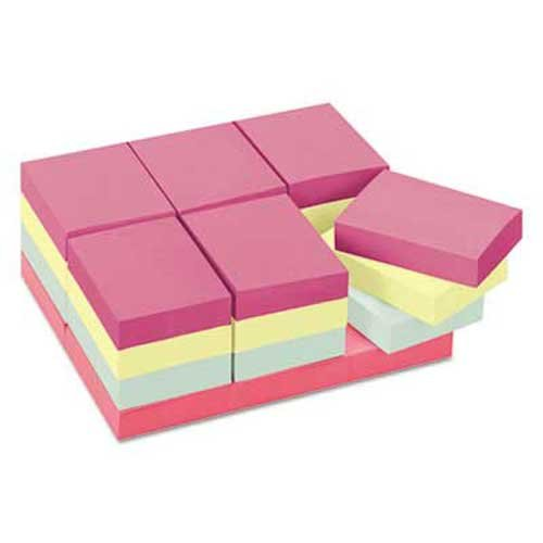 Dining Marseilles Room - Post-it Notes Original Pads in Marseille Colors, Value Pack, 1 1/2 x 2, 100/Pad, 24 Pads/Pack