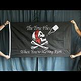 "Pirate Flag ""The Time Flies When You're Having Rum"" 3 feet x 5 feet"