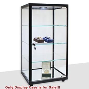 17c900f232e Amazon.com  Retails Black Lighted Square Countertop Glass Display Case 14  in. W x 12 in. D  Industrial   Scientific