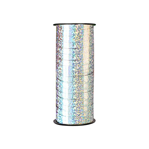 ULTNICE Balloon Curling Ribbon Gift Wrap Ribbon Crimped Ribbon Roll 100Yd (Laser (Holographic Curling Ribbon)