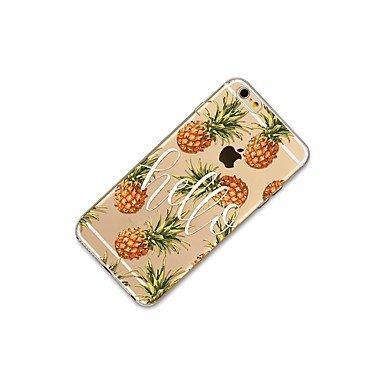 Fundas y estuches para teléfonos móviles, Caso para el iphone 7 más 7 cubren la caja transparente de la contraportada del patrón de la caja de la fruta pabellón suave de la piña ( Modelos Compatibles  IPhone X