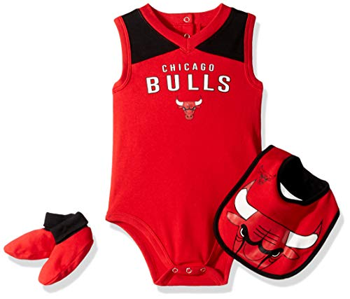 - Outerstuff NBA NBA Newborn & Infant Chicago Bulls Overtime Bodysuit, Bib & Bootie Set, Red, 0-3 Months