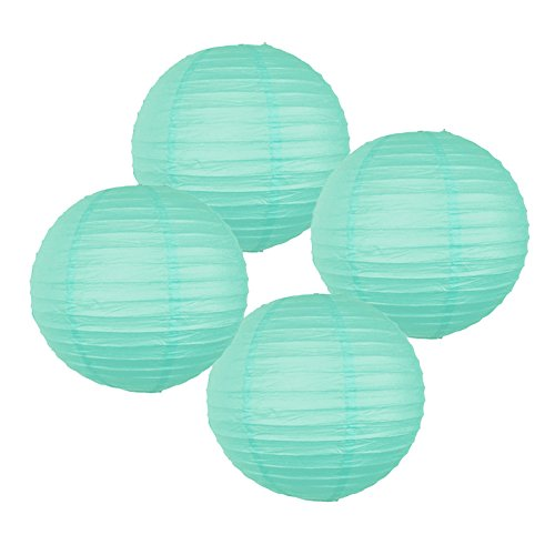 Just Artifacts 8' Seafoam Chinese Japanese Paper Lanterns (Set of 4) - Click for more Chinese/Japanese Paper Lantern Colors & Sizes!