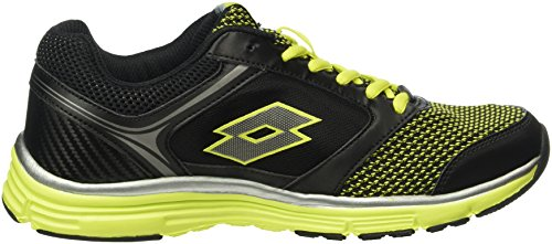 Lotto Everide Iii Amf, Zapatillas de Running para Hombre Negro / Verde (Blk / Grn Aca)