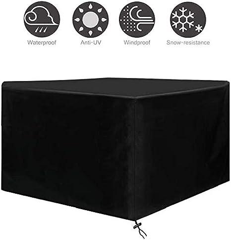 Osarke Funda para Mesa Jardin Fundas Muebles Exterior Impermeable 420D Oxford Muebles de Jardin Cubierta Protectora Anti-UV 123 X 123 X 74cm: Amazon.es: Hogar