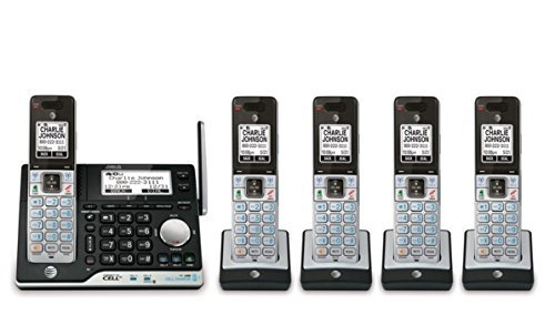 AT&T 5 Handset Answering System with Bluetooth Connect to Ce