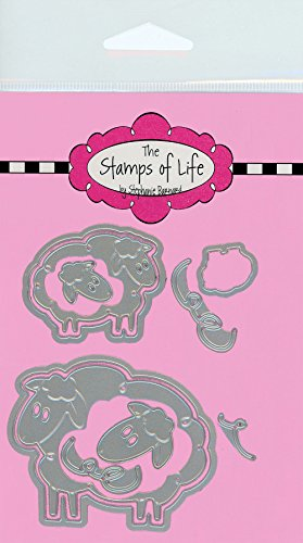 The Stamps of Life Animal Sheep Die Cuts for Card Making Scrapbooking by Stephanie Barnard - Sheep2Stamp Dies