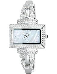 Adee Kaye Women's Ave of the Stars Silver-Tone Brass Bracelet & Case Quartz White Dial Analog Watch AK19-L