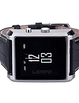 Amazon.com: Lincass DM08 Wearable Smartwatch, IPS Media Control/Hands-Free Calls/Pedometer/Anti-lost for Android/iOS Smartphone , brown: Sports & Outdoors