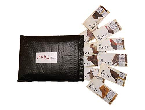 (Epic Jerky Stash Gift Bag - Tasty Epic Bars Try All 10 Flavors - Great Jerky Gift Set)