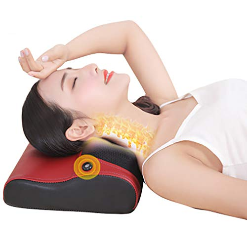 Removable Cloak - ZUZEN Electric Massage Pillow Cervical Back Waist Warm and Comfortable Relief Pressure Massage Pillow Cloak Removable and Washable Stepless Speed