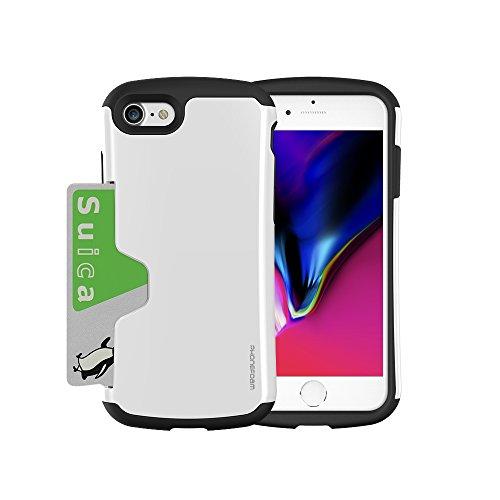 クルーゆでるオデュッセウスPhoneFoam Golf Original for iPhone 7/8 カードが入る 耐衝撃ケース 高品質塗装 握りやすく 手に馴染むフォルム Suica PASMO Toica など 改札でも安心の エラー防止シート 付属 ストラップホールつき ホワイト