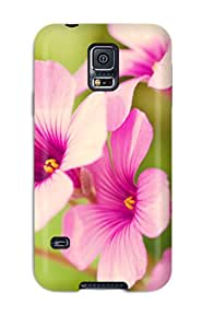 Rugged Skin Case Cover For Galaxy S5- Eco-friendly Packaging(flower S )