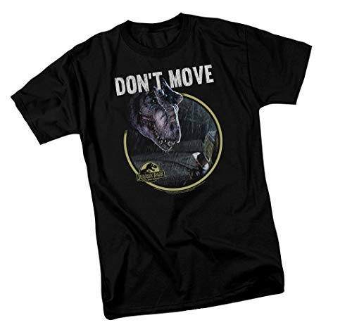 Jurassic Park 25th Anniv, Don't Move, Adult T-Shirt, Large