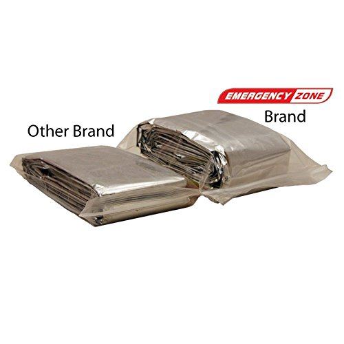 71x142 Inch Oversized Emergency Blanket, Emergency Zone Brand, Reflective Thermal Blanket
