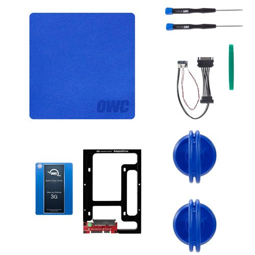 OWC 500GB 3G SSD and HDD DIY Complete Bundle Upgrade Kit for Late 2009-2010 iMacs by OWC