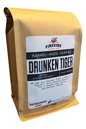 Barrel Aged Coffee Beans- Aged in Whiskey, Wine, and Beer Barrels - 12 Oz. Bag (Drunken Tiger)
