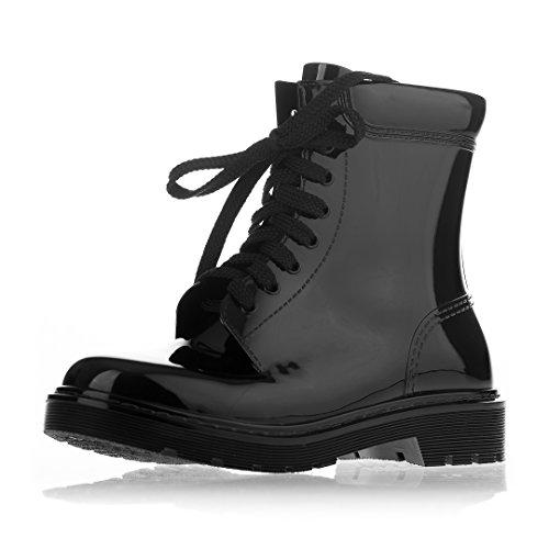 Black Boots WoMen MEI Wellington MEI WoMen 0vqXRXz