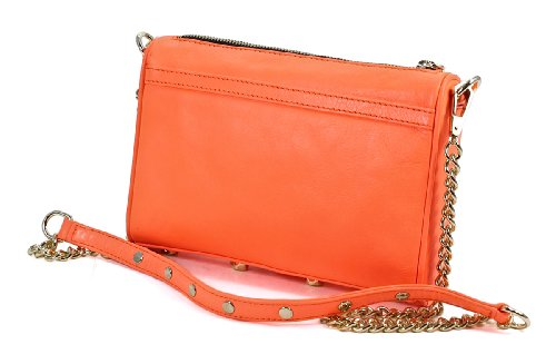 Rebecca Minkoff Mini MAC Convertible Cross-Body Bag Handbag,Neon Orange,One Size