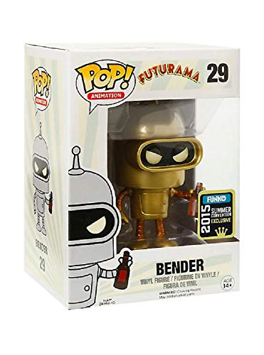 Funko - Pop Collection - Futurama - Gold Bender SDCC 2015 - 0849803056278