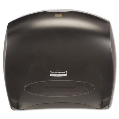 "Kimberly Clark Professional JRT Jr. Escort Jumbo Roll. Commercial Toilet Paper Dispenser (09507), with Stub Roll, 16"" x 13.88"" x 5.75"", Smoke/Black"