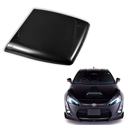 GUmin Universal JDM Style Car Decorative Hood Scoop, Automotive Air Flow Intake Bonnet, Automoile Air Vent Turbo Bonnet Cover DIY Car Accessories, Carbon Fiber