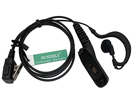 SUNDELY® High Quality Clip-Ear Headset/Earpiece with mic for Motorola  Radios DP3401 DP4601 XiRP8260 XPR6500 XPR6580 XPR7350 Multi-pin