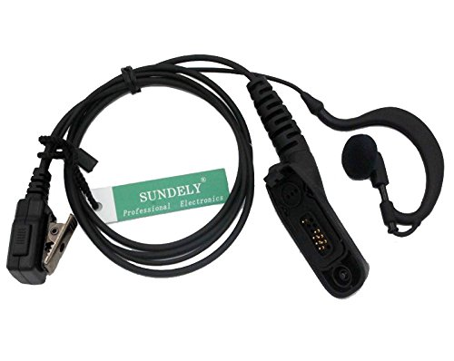 SUNDELY High Quality Clip-Ear Headset/Earpiece with Mic for Motorola Radios DGP4150, DGP4150+, DGP6150, DGP6150+, APX7000 by SUNDELY