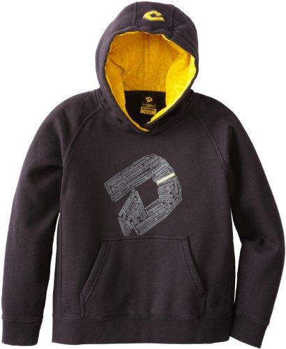 Demarini Youth Short - DeMarini Boy's Mottos Graphic Hoodie, Black, Small