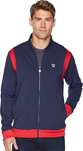 Fila Men's Heritage Tennis Jacket Navy/Chinese Red/White Medium