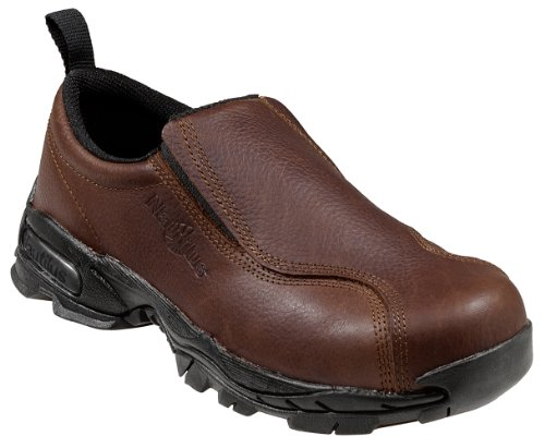 Nautilus 1620 Full Grain Leather ESD  Safety Toe Slip-On,Brown,9.5 M ()